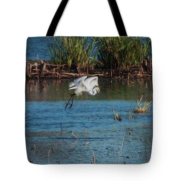 Tote Bag featuring the photograph Egret 4 by Travis Burgess