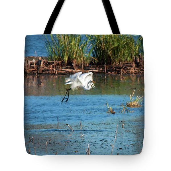 Tote Bag featuring the photograph Egret 5 by Travis Burgess
