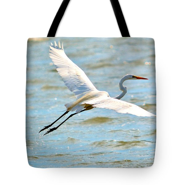 Egret Arms Wide Open Tote Bag