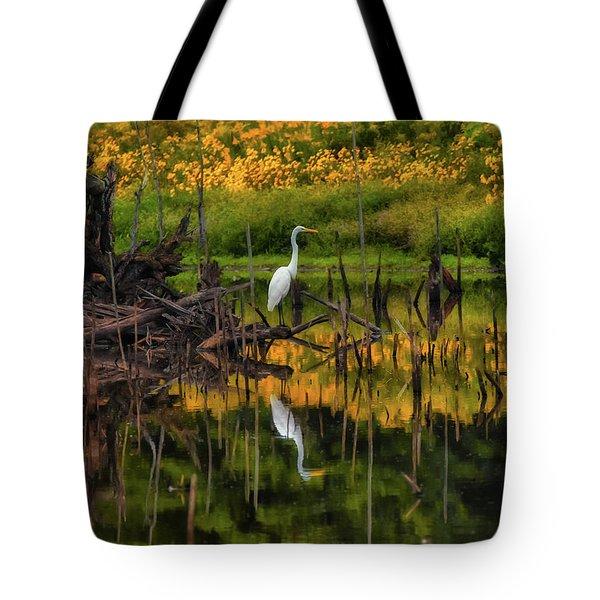 Egret Art  Tote Bag