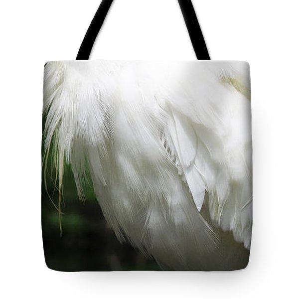 Egret Feeling Ruffled Tote Bag