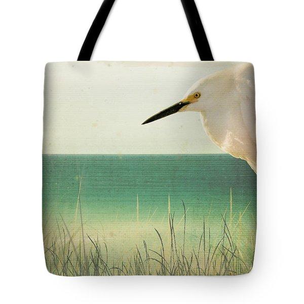 Egret In Morning Light Tote Bag