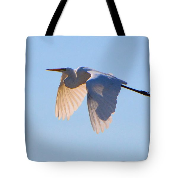 Egret In Silhouette Tote Bag by Josephine Buschman