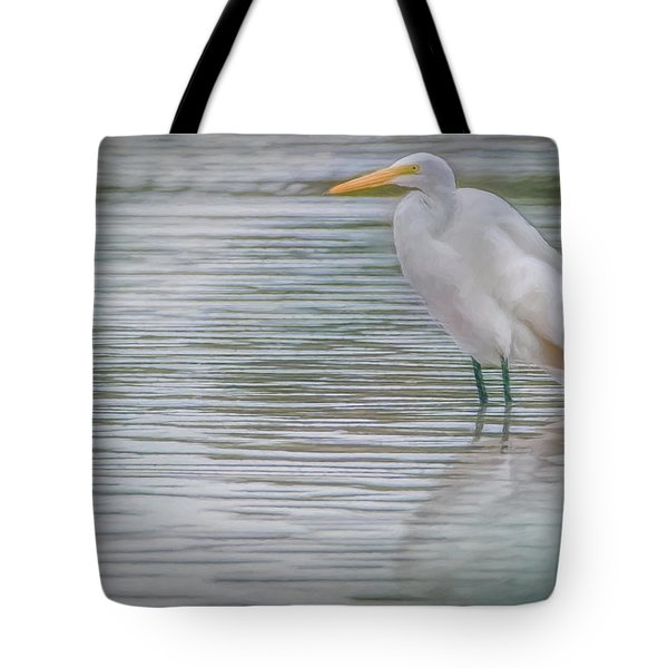 Egret In The Shallows Tote Bag