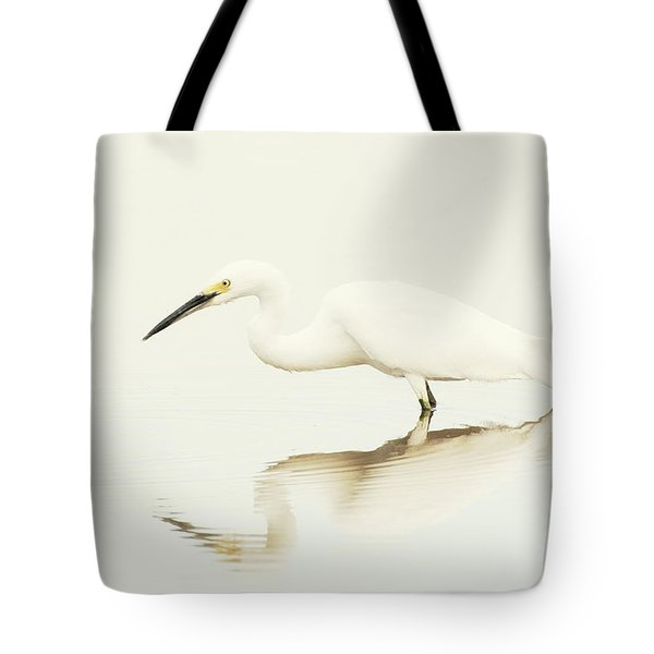 Egret In Vanilla Tones Tote Bag