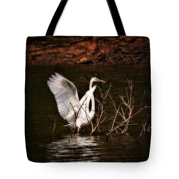 Egret Ix Tote Bag by Gary Adkins