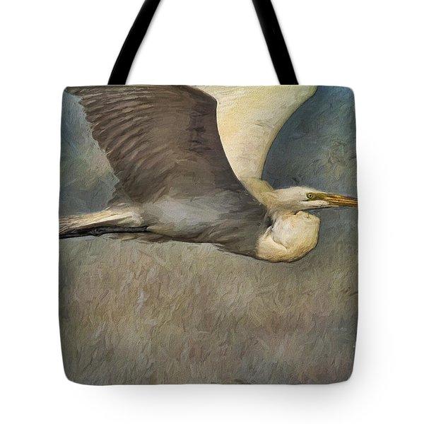 Egret Journey Tote Bag