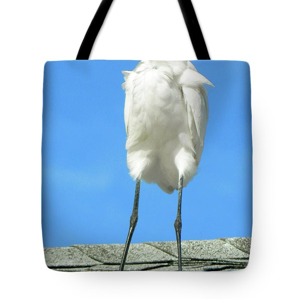 Egret Focused And Poised Tote Bag