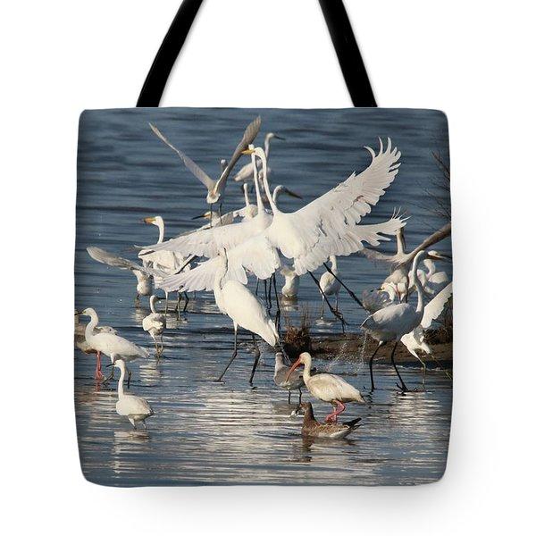 Egret Mania 2 Tote Bag