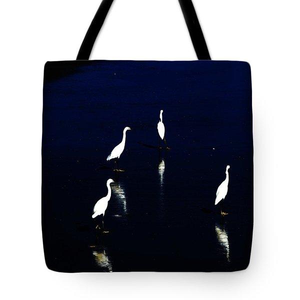Egret Reflections Tote Bag by David Lane
