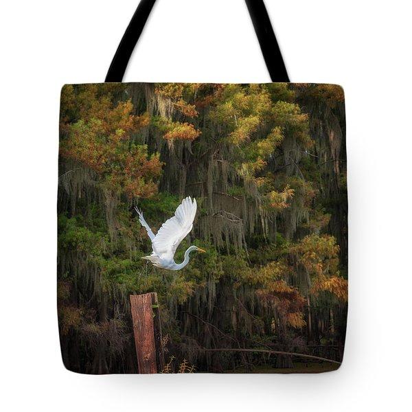 Egret Sanctuary Tote Bag