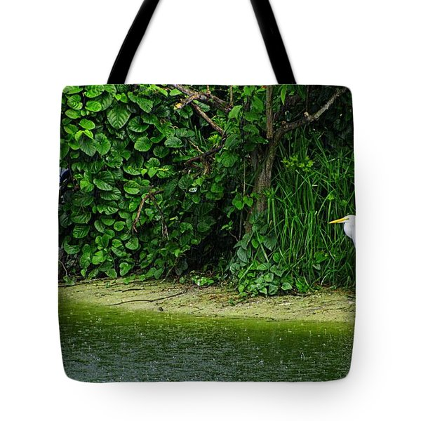 Egret Wakodahatchee Florida Wetlands Tote Bag