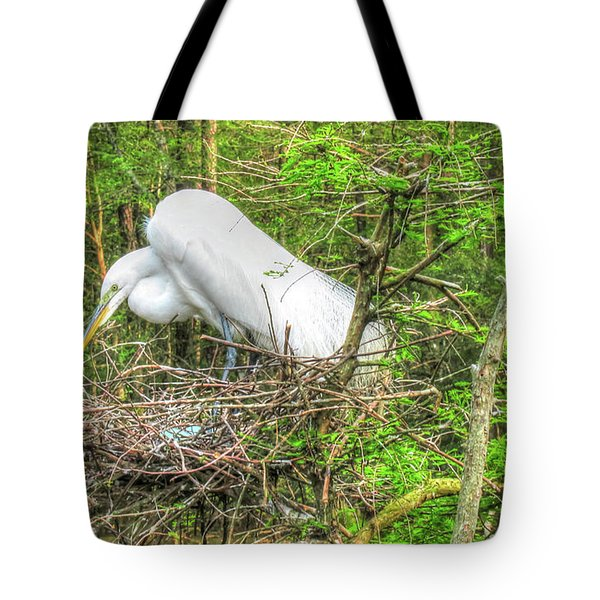 Egrets And Eggs Tote Bag