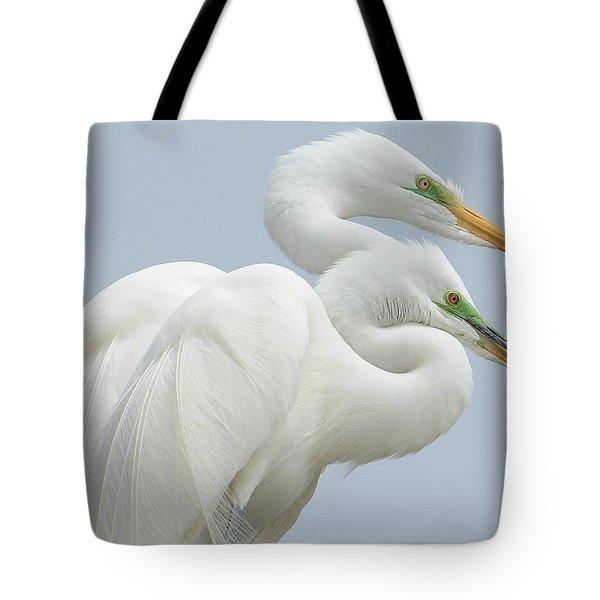 Egrets In Love Tote Bag