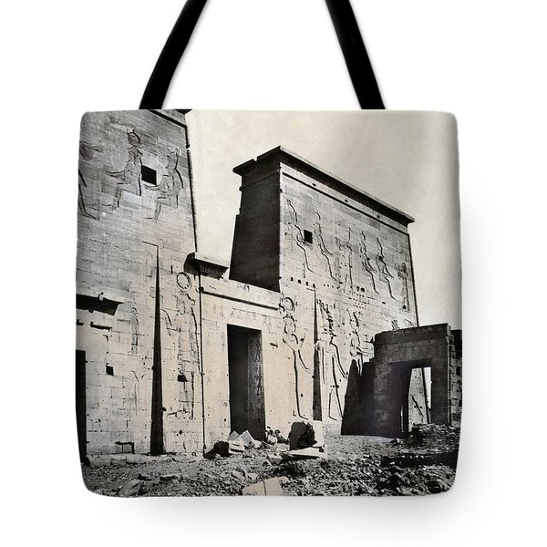 Egypt: Temple Of Isis Tote Bag by Granger