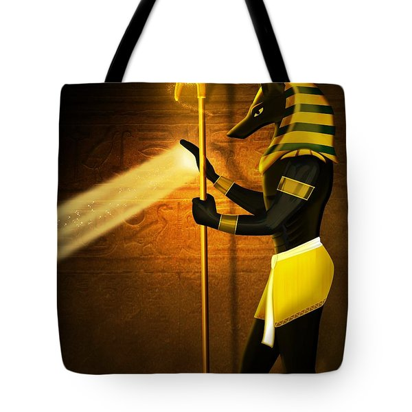 Egyptian God Anubis Tote Bag