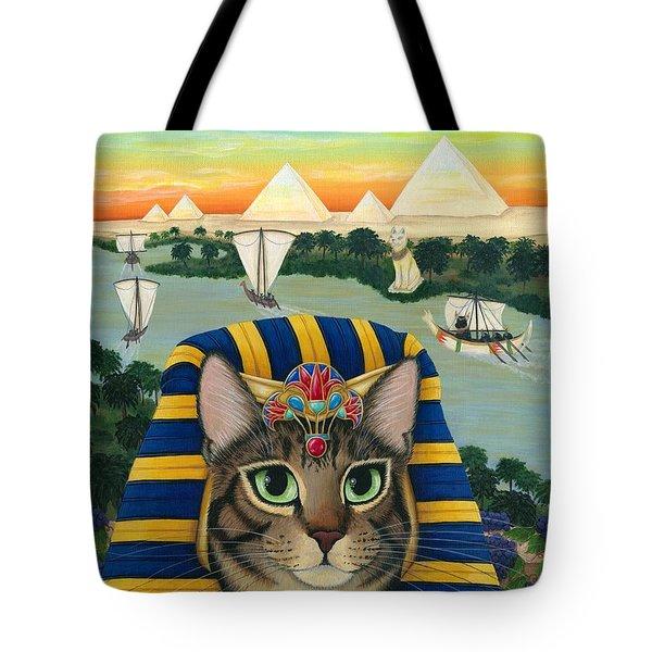 Egyptian Pharaoh Cat - King Of Pentacles Tote Bag