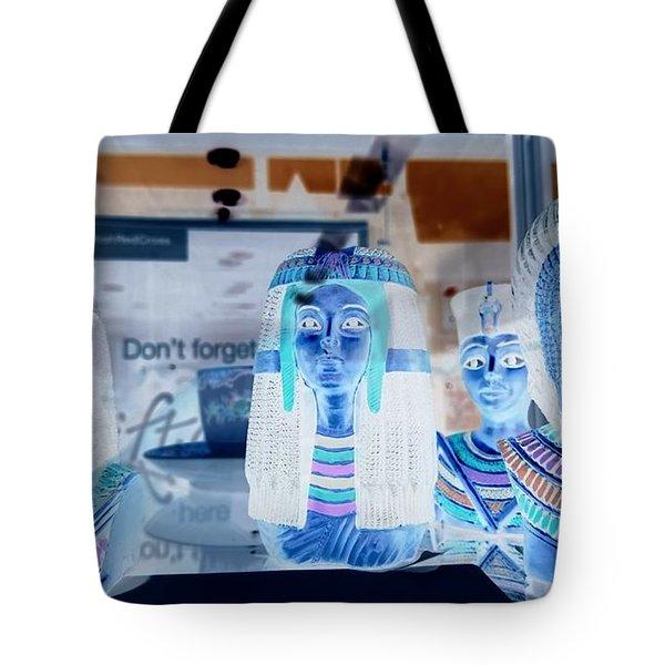 Egyptian Statues Tote Bag