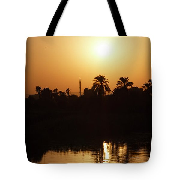 Tote Bag featuring the photograph Egyptian Sunset by Silvia Bruno