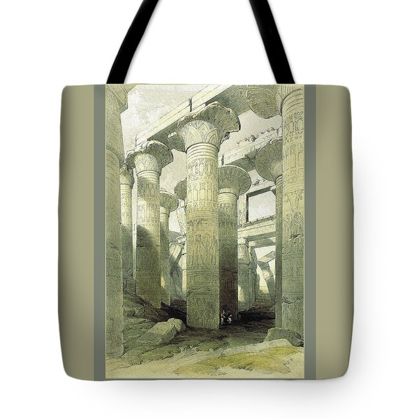 Egyptian Temple No 3 Tote Bag by Robert G Kernodle