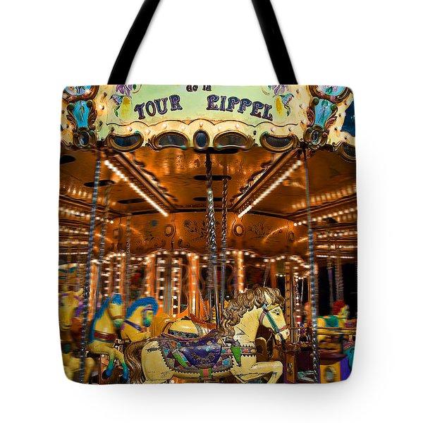 Eiffel Carrousel Tote Bag