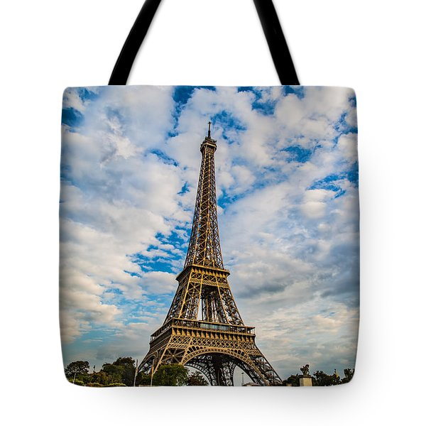 Tote Bag featuring the photograph Eiffel Clouds by Kim Wilson