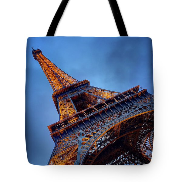 Eiffel Dressed In Gold Tote Bag