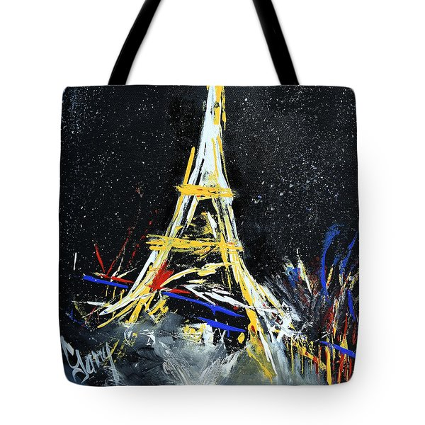 Tote Bag featuring the painting Eiffel by Gary Smith