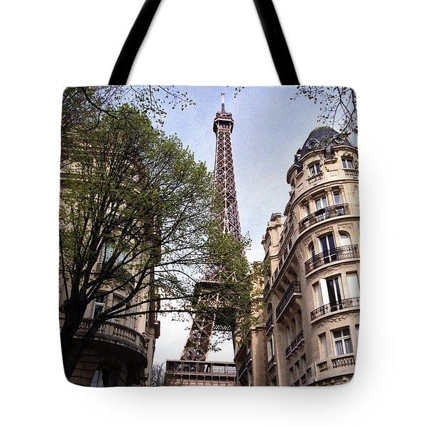 Tote Bag featuring the photograph Eiffel Tower 2b by Andrew Fare