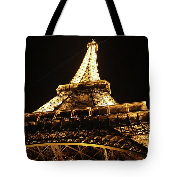 Tote Bag featuring the photograph Eiffel Tower At Night by MGL Meiklejohn Graphics Licensing