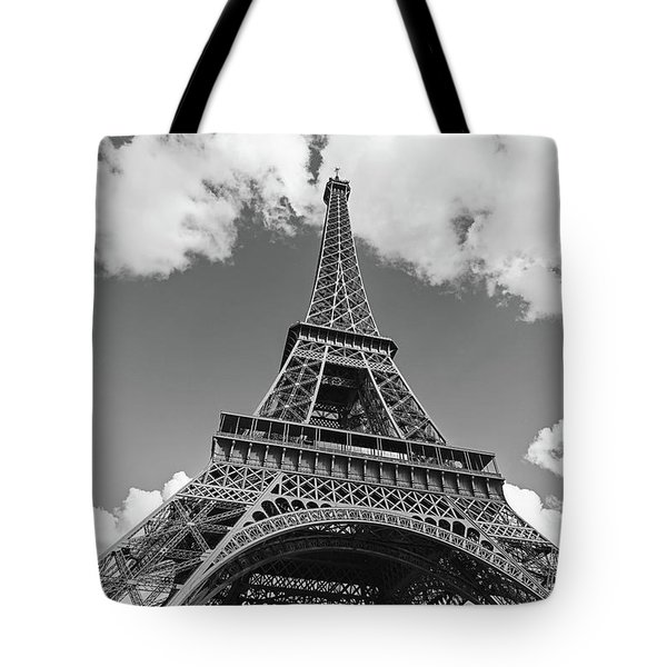 Eiffel Tower - Black And White Tote Bag