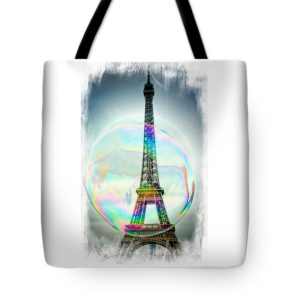 Eiffel Tower Bubble Tote Bag