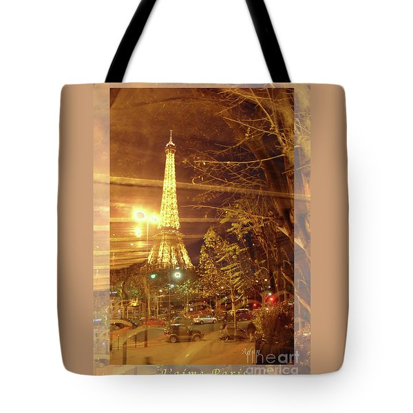 Eiffel Tower By Bus Tour Greeting Card Poster Tote Bag by Felipe Adan Lerma