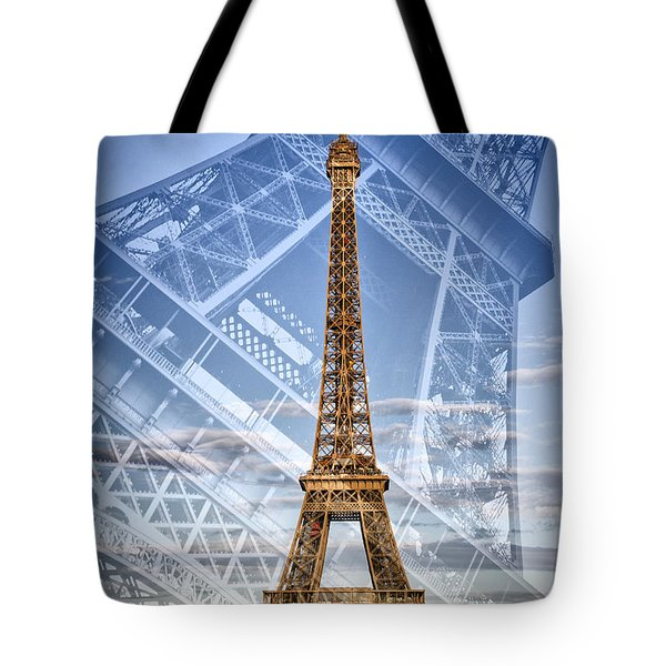 Eiffel Tower Double Exposure II Tote Bag
