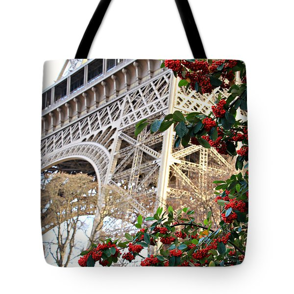 Eiffel Tower In Winter Tote Bag