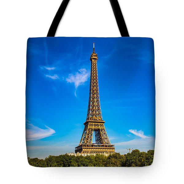 Tote Bag featuring the photograph Eiffel Tower by Kim Wilson