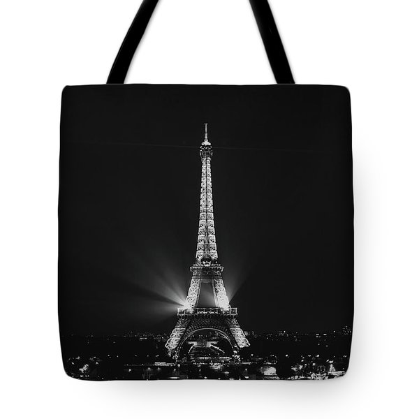 Eiffel Tower Noir Tote Bag by Melanie Alexandra Price