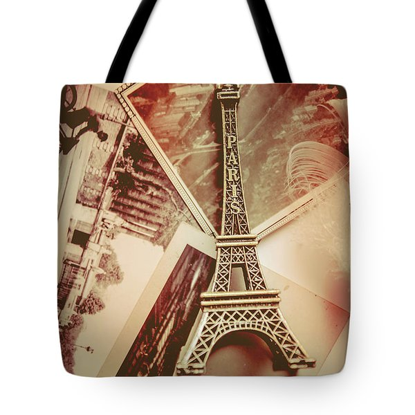 Eiffel Tower Old Romantic Stories In Ancient Paris Tote Bag by Jorgo Photography - Wall Art Gallery