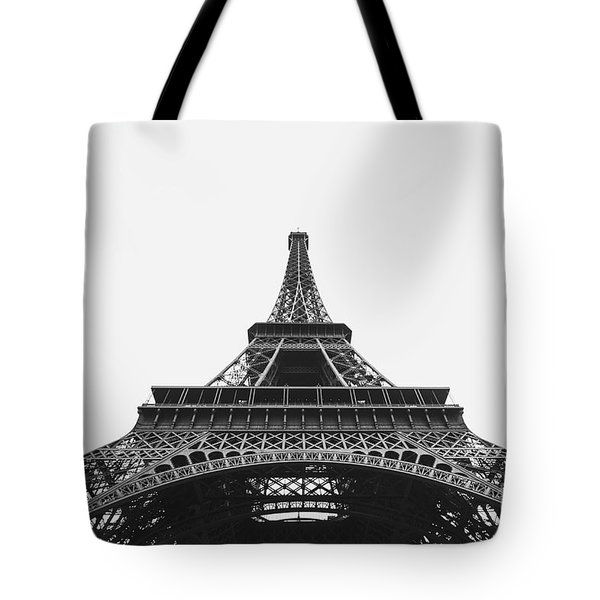 Tote Bag featuring the photograph Eiffel Tower Perspective  by MGL Meiklejohn Graphics Licensing