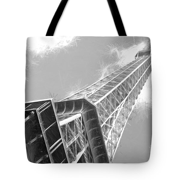 Eiffel Tower Sketch  Tote Bag
