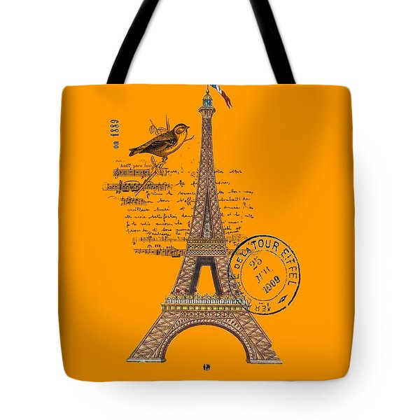 Eiffel Tower T Shirt Design Tote Bag