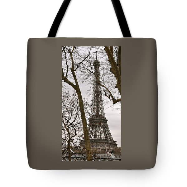 Eiffel Tower Through Branches Tote Bag