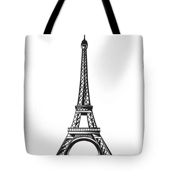 Eiffel Tower Up Tote Bag by Stanley Mathis