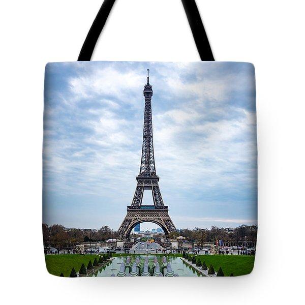 Eiffeltower From Trocadero Garden Tote Bag by Rainer Kersten