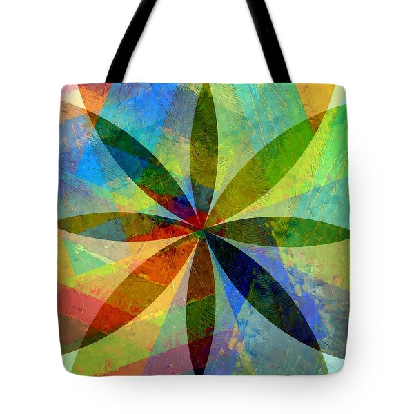 Tote Bag featuring the painting Eight Petals by Michelle Calkins