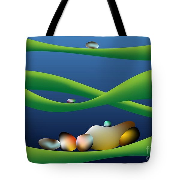 Tote Bag featuring the digital art Eight Secrets Of My Life by Leo Symon