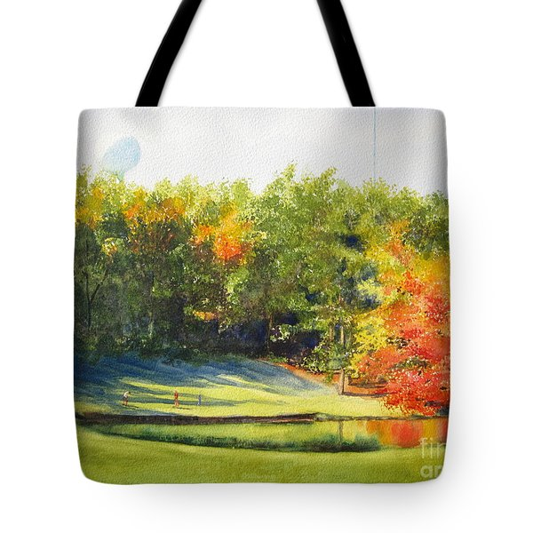 Eighteenth Hole Tote Bag