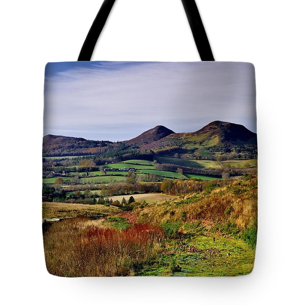 Eildon Hills Borders Scotland Tote Bag