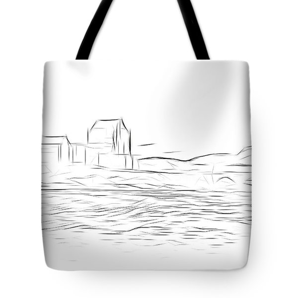 Eilean Donan Castle Digital Art Tote Bag