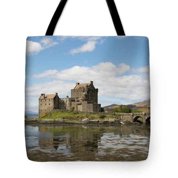 Tote Bag featuring the photograph Eilean Donan Castle - Scotland by Karen Van Der Zijden